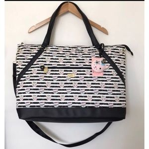 Betsey Johnson Unicorn Cat  Weekender Duffle Bag